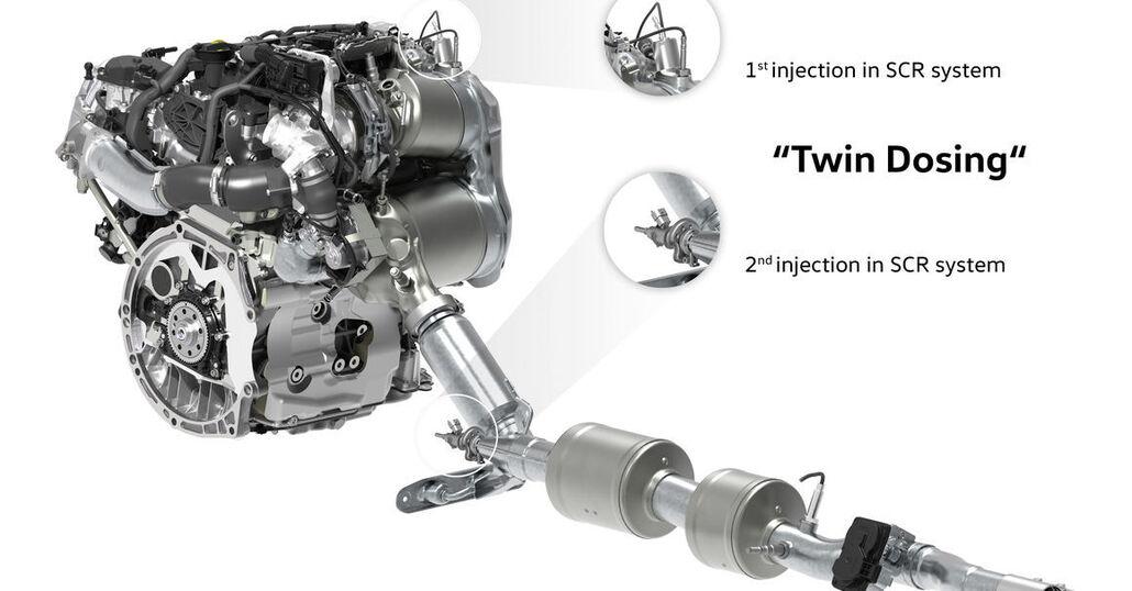 Motori diesel salvati dal Twin Dosing? Secondo VW le emissioni NOX scendono dell'80%
