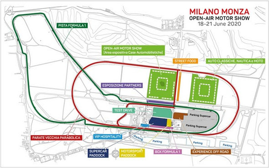 Come sarà organizzato l'Autodromo per il Milano Monza Open-Air Motor Show