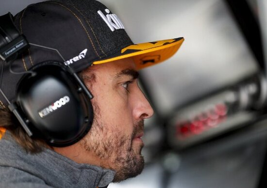Formula 1, GP Italia a Monza: Fernando Alonso nel box Mclaren