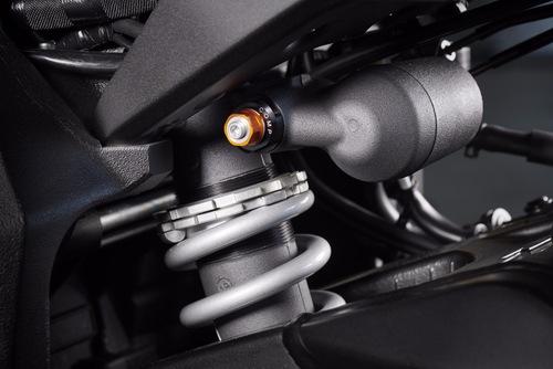 Il monoammortizzatore meccanico adottato dalla R1