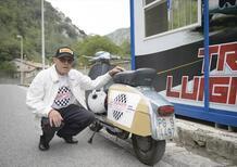 Lucio Lisarelli sulla Lambretta migliora il suo record di guida
