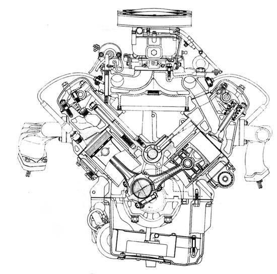Il V8 BMW, prodotto in versioni di 2,6 e di 3,2 litri, rappresentava bene lo stato dell'arte della tecnica negli anni Cinquanta, per quanto riguarda i motori di serie. La distribuzione era ad aste e bilancieri, il basamento era in lega di alluminio e le canne dei cilindri erano riportate in umido