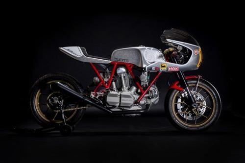 Walt Siegl Bedeveled: special da pista con motore carter quadri Ducati 900 SS (8)