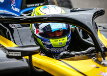 Luca Ghiotto, in gara per la Formula 1