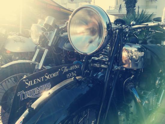 La più ammirata a Santa Marinella: una rarissima Triumph Silent Scout del 1932