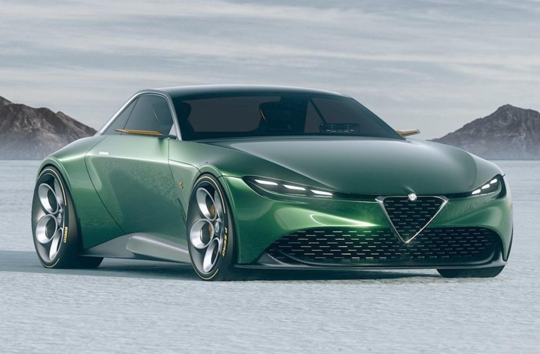 Alfa Romeo Junior Zagato, il rendering di una suggestiva coupé