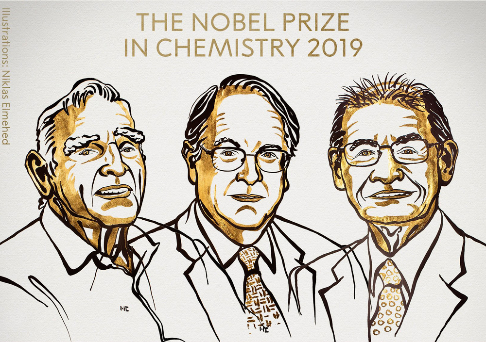"""Nobel ai padri delle batterie Li-Ion, premio a un """"mondo ricaricabile"""""""