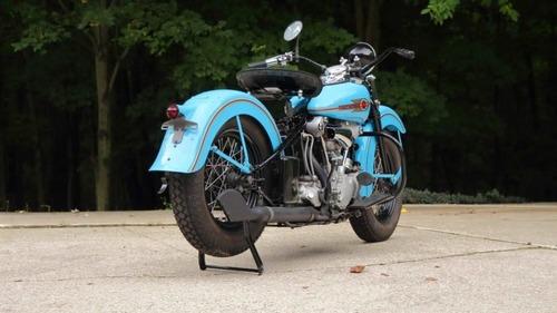 Harley Davidson Knucklehead: un esemplare del 1938 all'asta (6)