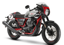 Moto Guzzi V7 III Racer 10° Anniversary e Stone S a EICMA 2019