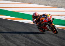 MotoGP 2019 a Valencia. Marc Marquez in testa al warm up