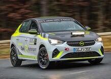 Opel Corsa-e Rally: foto e video dell'elettrica da corsa in azione