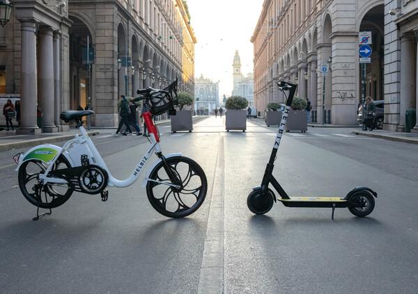 Con Telepasspay, bike sharing e monopattini elettrici gratis