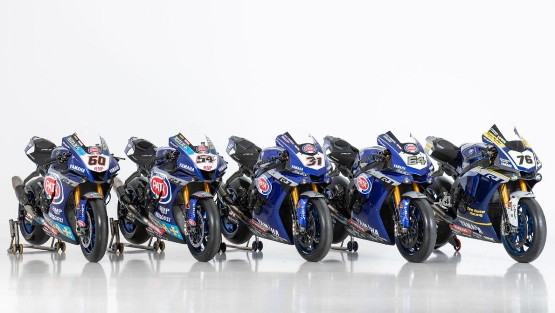 Le cinque Yamaha R1 del mondiale SBK 2020