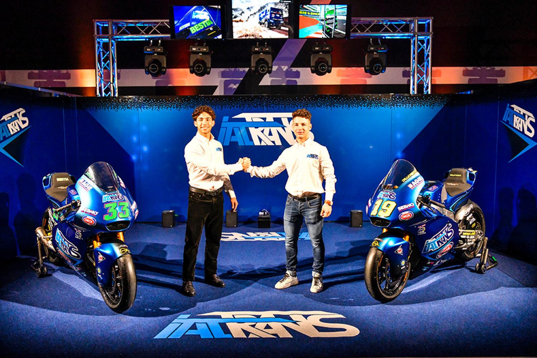Moto2. Presentato il team Italtrans con Bastianini e Dalla Porta