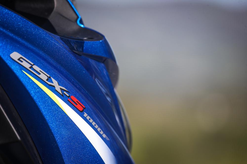 Le linee tornite della Suzuki GSX-S1000F