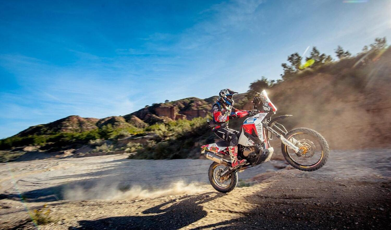 Honda Africa Twin 1ª e 3ª all'Hispania Rally