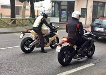 Aprilia RS 660: foto spia su strada