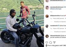 In moto con la sua Harley: il giro di Zlatan Ibrahimovic sul lago di Como