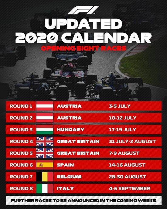 F1 2021 Termine