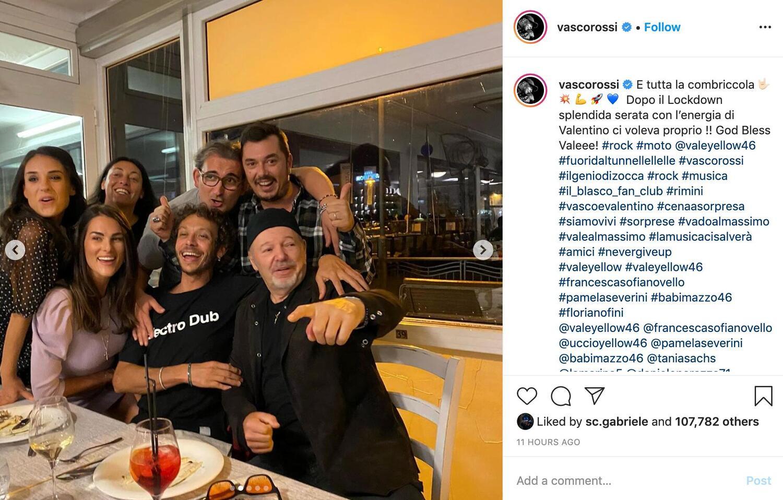 Valentino Rossi e Vasco Rossi si incontrano a Rimini