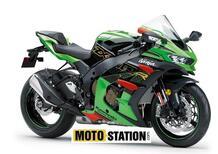 Kawasaki Ninja ZX-10 R 2021: il rendering che la vede con le appendici aerodinamiche