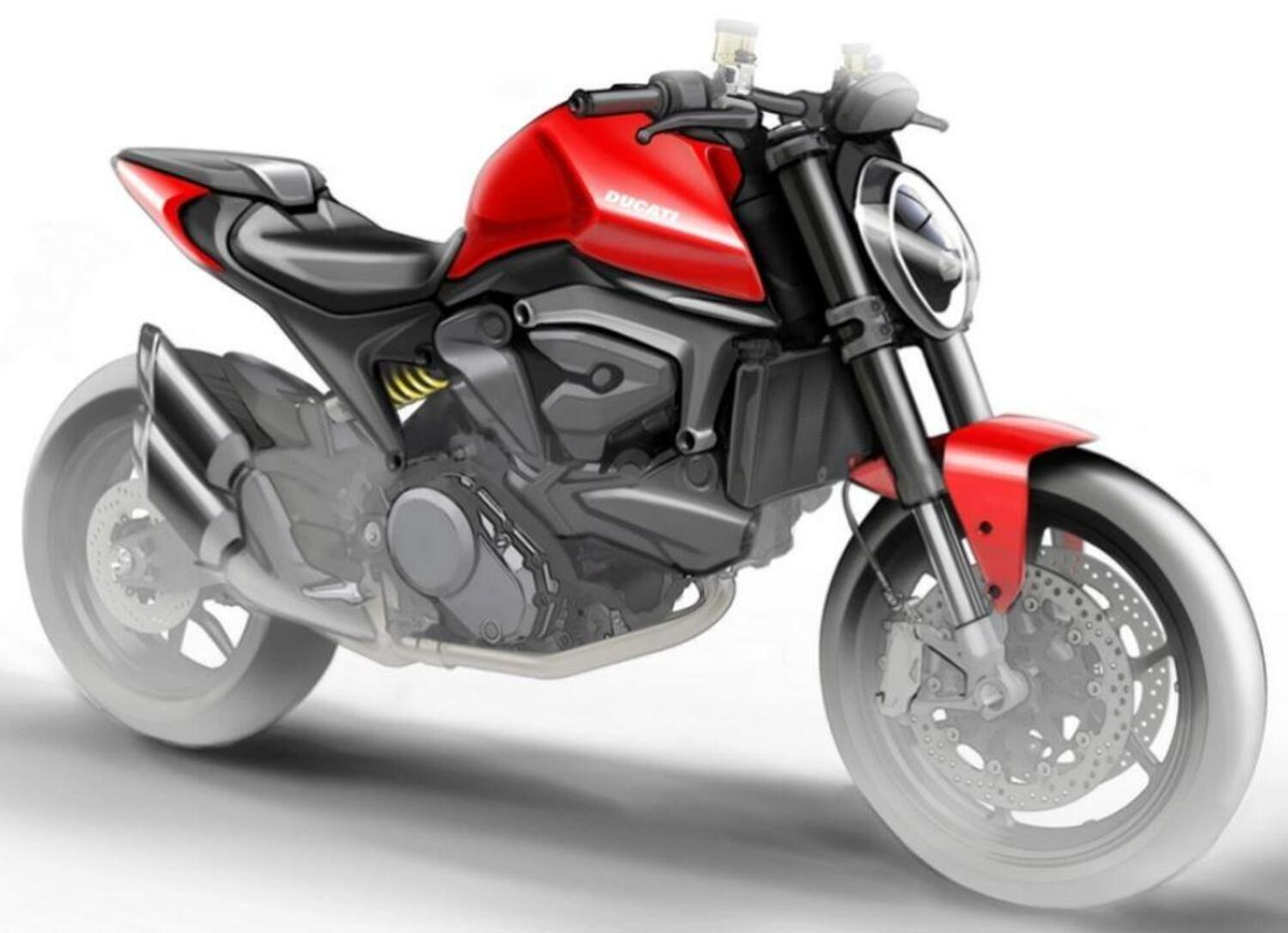 Ducati Monster 821 (o 939?) 2021. Senza in traliccio