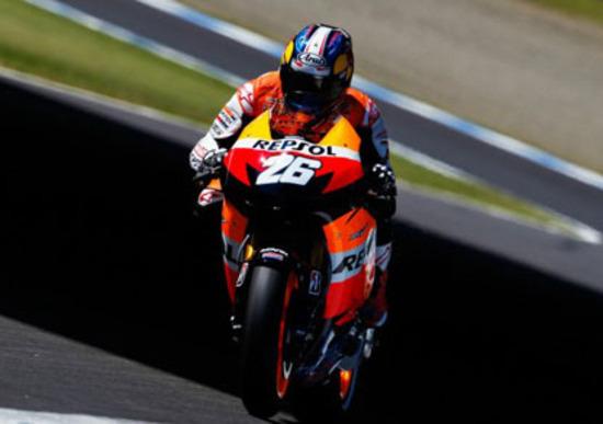 GP del Giappone. Pedrosa è il più veloce nelle libere. Rossi quinto