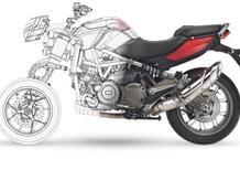 Aprilia: brevetto moto a tre ruote. Sarà l'anti Niken?