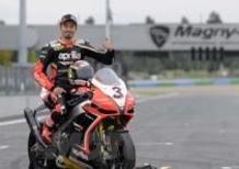 Aprilia festeggia il Campione del Mondo SBK 2012 Max Baggi