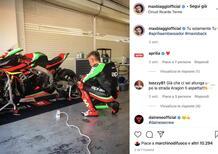 Il ritorno in pista di Max Biaggi a Barcellona... Ovviamente con la sua Aprilia X