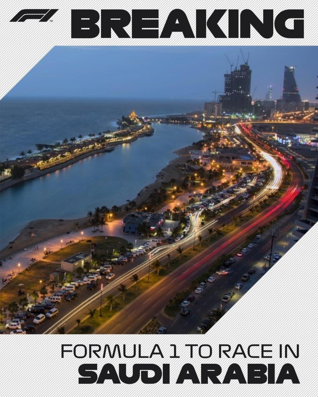Formula 1: il GP dell'Arabia Saudita entra ufficialmente nel