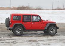Jeep Wrangler Unlimited, Mezze porte: eccolo in foto (spia) MY2021
