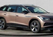 In Cina svelato al mondo l'ultimo grosso SUV elettrico Volkswagen: ID.6 [anche 7 posti]