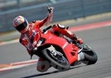 Nicky Hayden e Ben Spies in pista ad Austin con la Ducati 1199 Panigale R