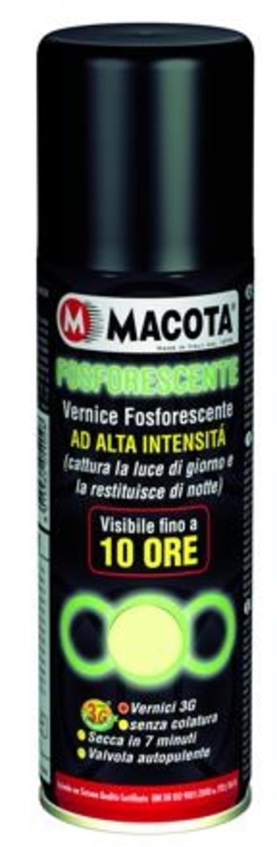 Macota Fosforescente: la vernice ad alta visibilità