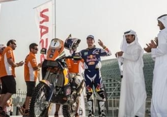 Abu Dhabi Desert Challenge. Vince Marc Coma (KTM). Sunderland (Honda) terzo