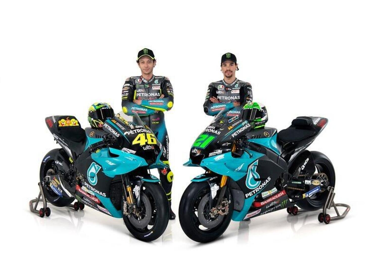MotoGP. Valentino Rossi, Franco Morbidelli e la presentazione del Petronas Yamaha SRT  [GALLERY]