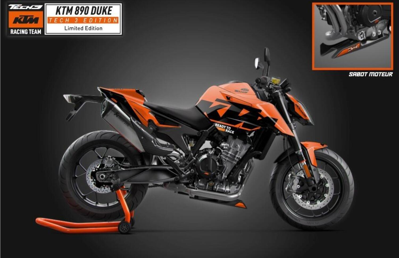 KTM 890 Duke Black Tech3 Limited Edition. Aria di MotoGP