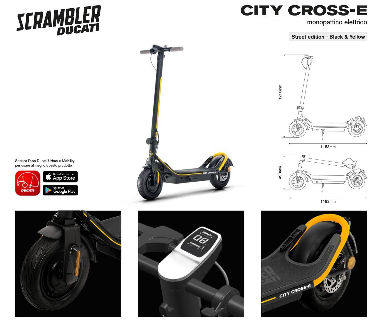 City Cross-E, il nuovo monopattino firmato Ducati Scrambler