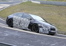 Mercedes-AMG EQS, le foto spia