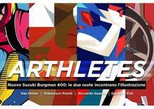 Al via ARThletes: il nuovo Suzuki Burgman 400 incontra l'illustrazione con i primi due artisti