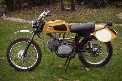 La 125 a cilindro orizzontale non ha avuto un particolare successo. Era però valida, specialmente nella versione da regolarità. Esemplare del 1967