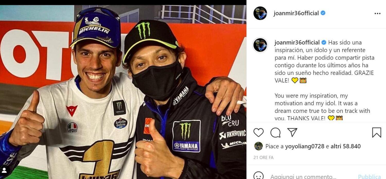Valentino Rossi si ritira, i piloti della MotoGP (e i rivali storici) lo omaggiano sui social