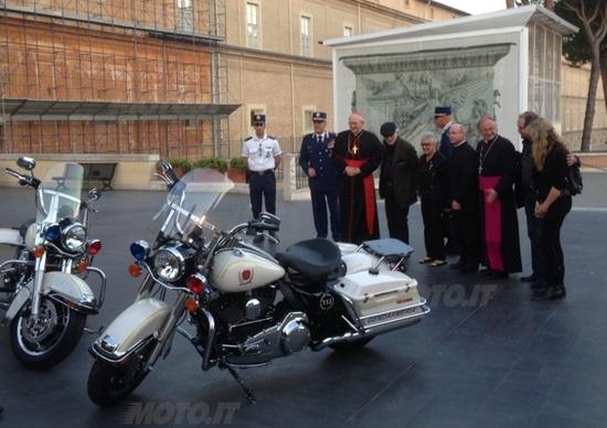 L'Harley-Davidson del Papa all'asta per la Caritas