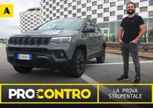 Jeep Compass restyling, PRO e CONTRO | La pagella e tutti i numeri della prova strumentale