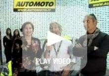 EICMA 2013: Paola Trotta (Opel), Aldo Drudi e la Adam di Valentino