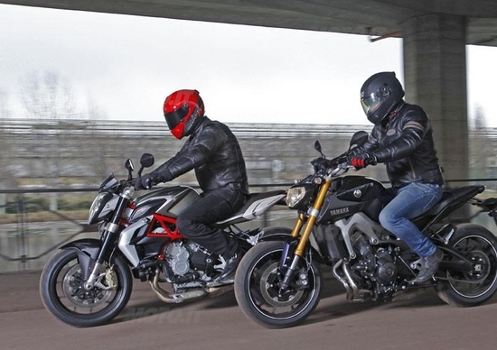 Mv Agusta Brutale 800 vs Yamaha MT-09