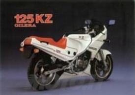 La Gilera KZ 125 in un depliant dell'epoca