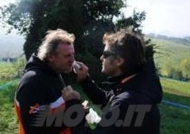 Fabiano con Gigi Bianchetti, coordinatore del trofeo di enduro