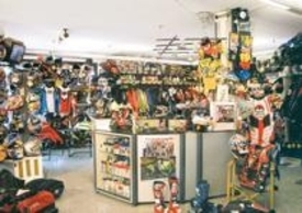 1991- Vista interno dello  STORE VALERISPORT ad Altivole (TV)